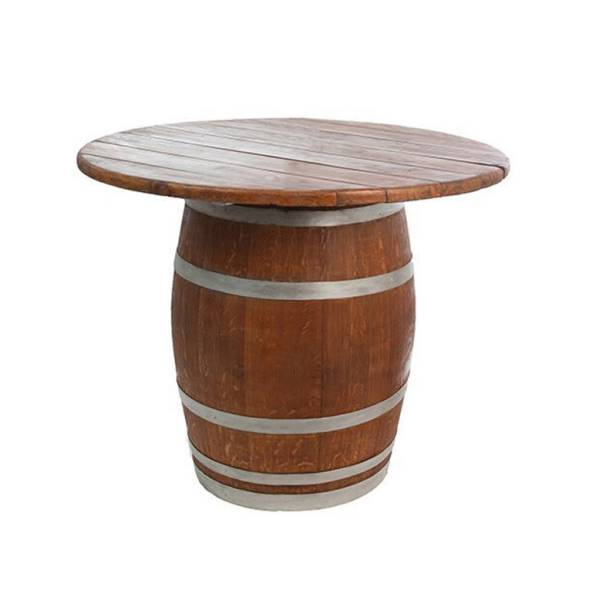 Full barrel with wooden counter