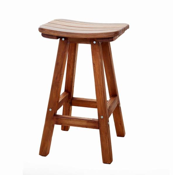 Bar stool with stave seat