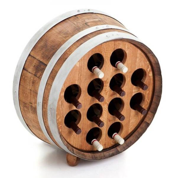 Barrel wine rack - 12 bottles