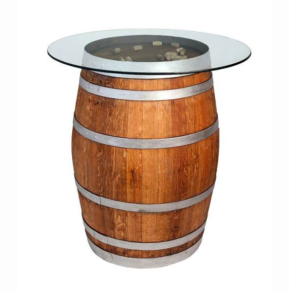 Full barrel with glass counter