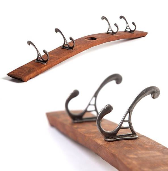Four hook coat rack