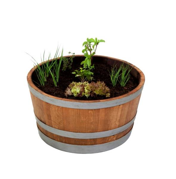 Quarter barrel planter