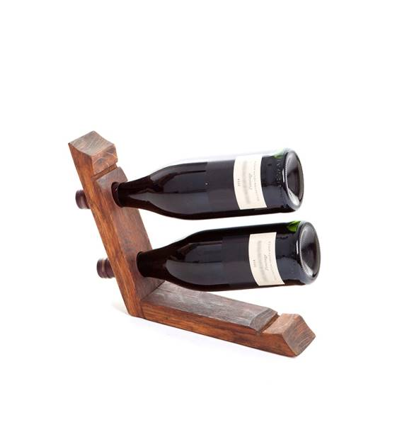 Wine bottle display - 2 bottles