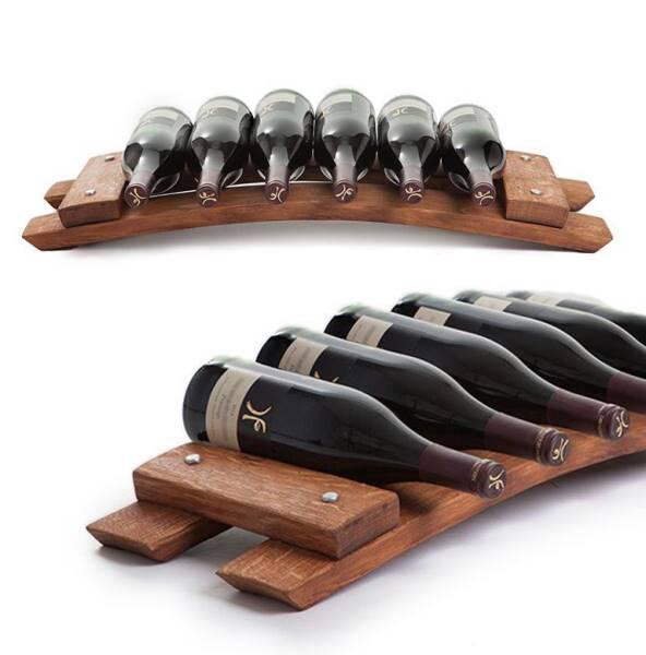 Stave wine rack - 6 bottles